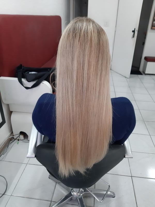 Resultado da progressiva orgânica  cabelo cabeleireiro(a) auxiliar cabeleireiro(a)