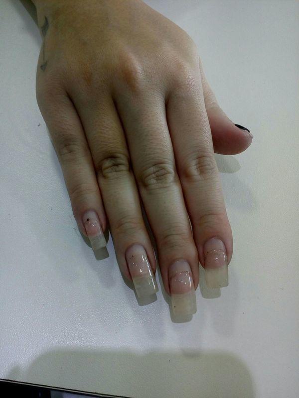 Alongamento em gel,um mês sem manutenção manicure e pedicure manicure e pedicure