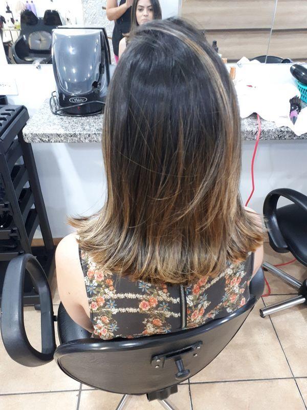 Corte e ombre cabelo cabeleireiro(a)