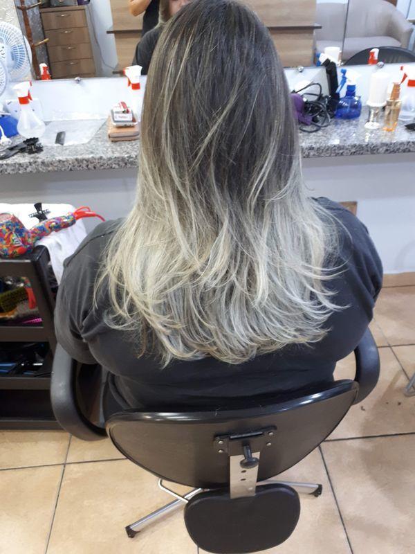 Correcao de ombré, corte e escova.. cabelo cabeleireiro(a)