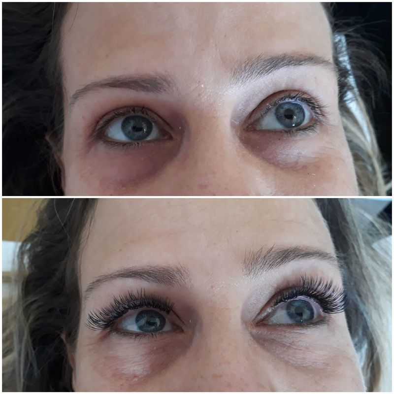 Extensão de cílios  estética esteticista designer de sobrancelhas