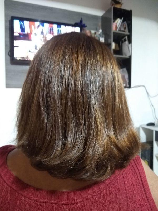 Coloração + Escova. cabelo cabeleireiro(a) cabeleireiro(a)