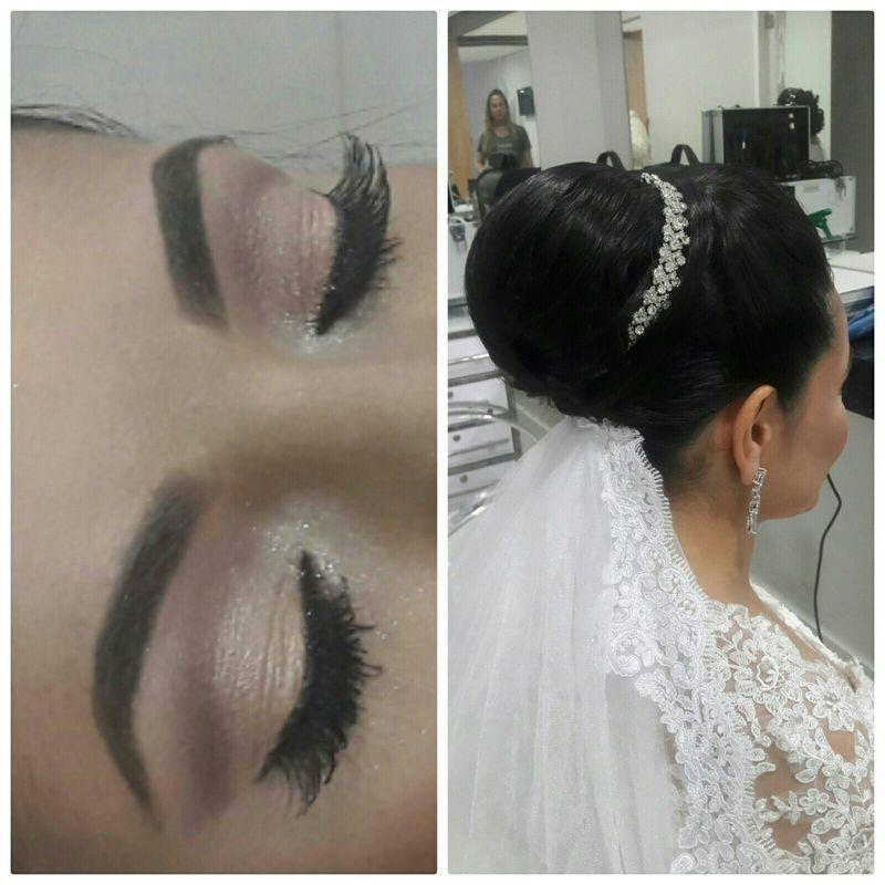 Penteado e maquiagem para noiva e madrinhas! outros cabeleireiro(a) maquiador(a) barbeiro(a) designer de sobrancelhas dermopigmentador(a)