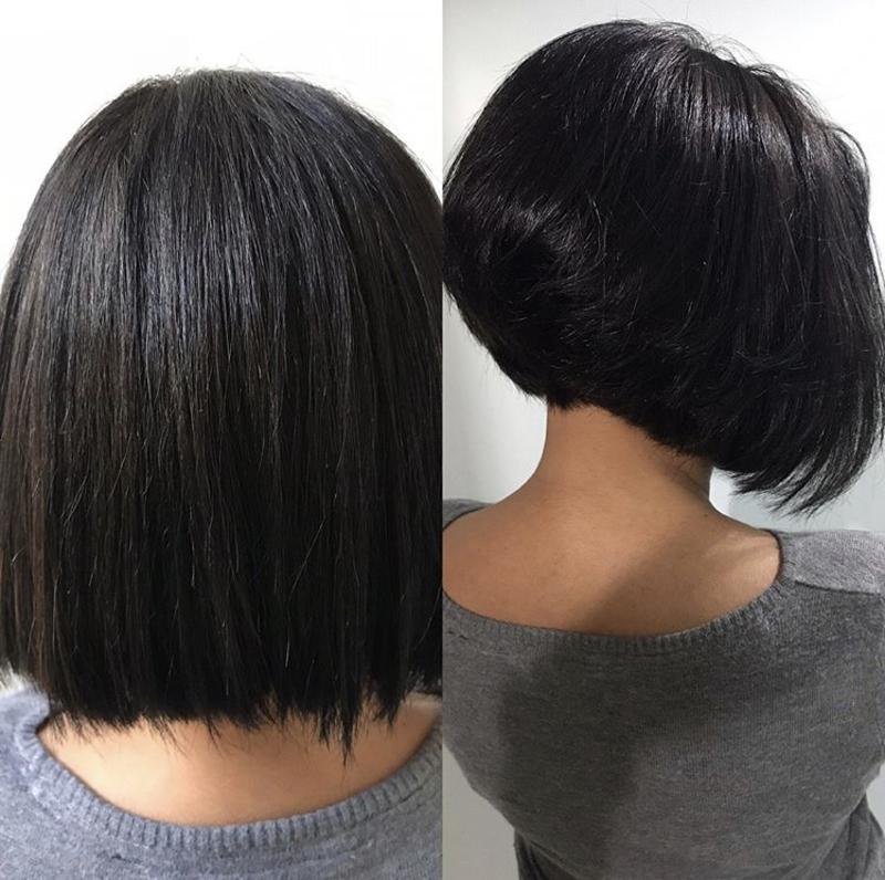 Corte e banho de verniz  cabelo cabeleireiro(a)