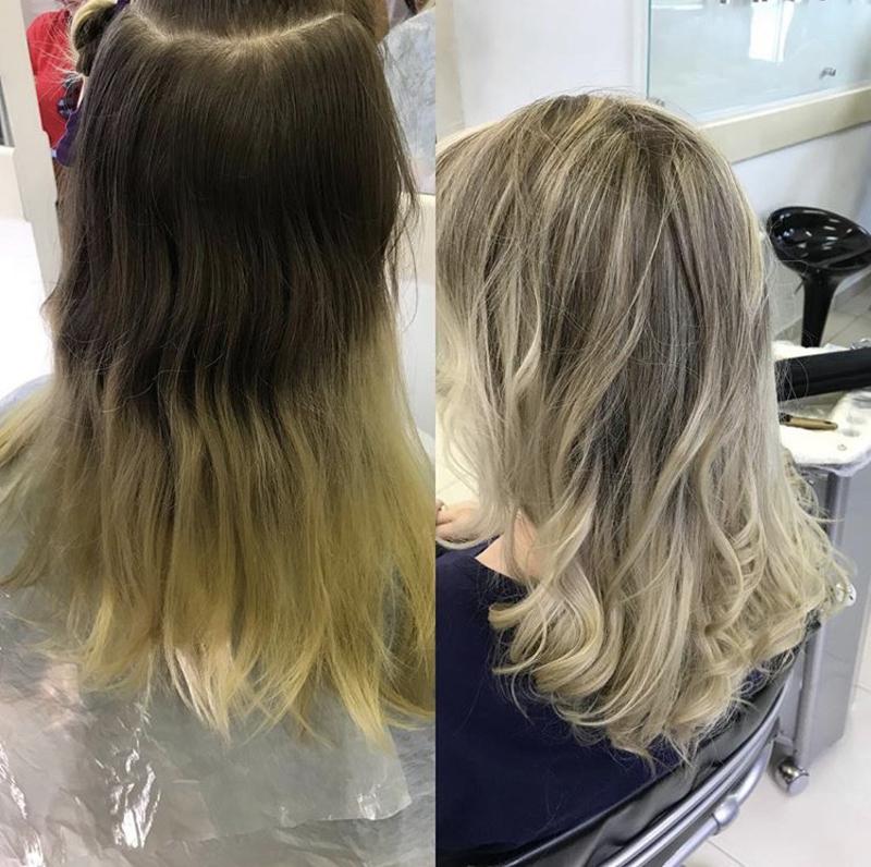 Mechas e reconstrução  cabelo cabeleireiro(a)