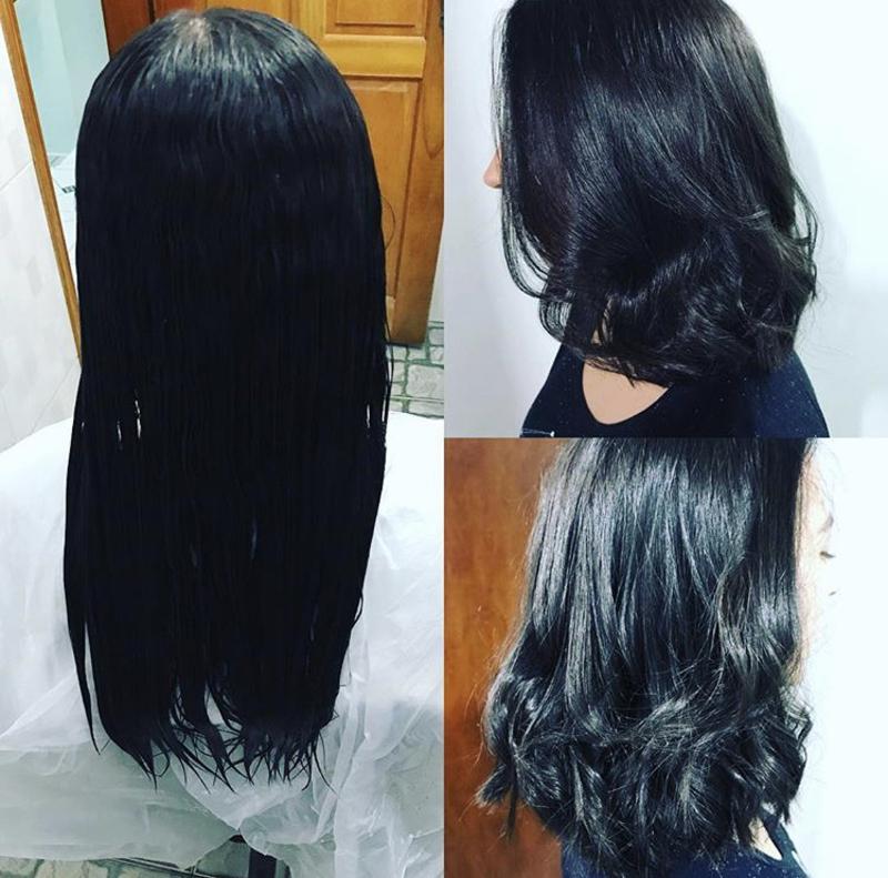 Corte e hidratação  cabelo cabeleireiro(a)