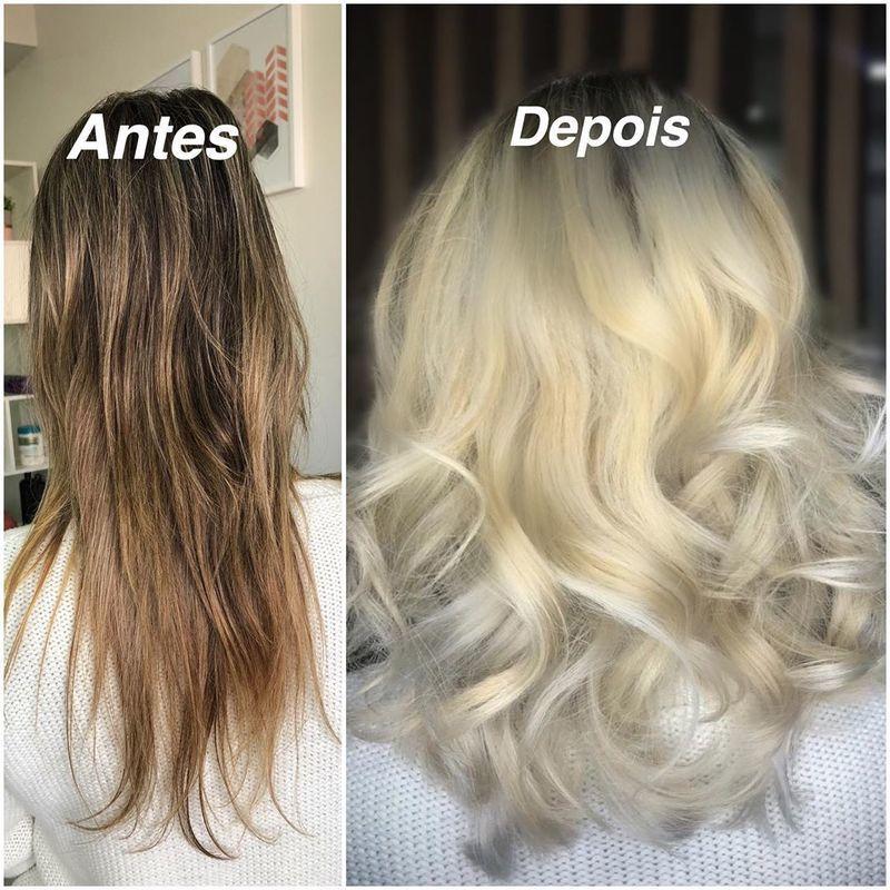 Luzes e corte de cabelo #luzes #loiros #cabeleireira cabelo cabeleireiro(a) maquiador(a)