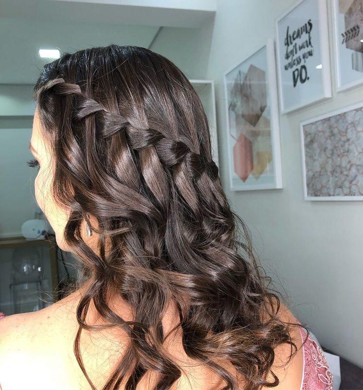 Penteado trança cascata   #trança #penteado #madrinha #cabeleireira cabelo cabeleireiro(a) maquiador(a)