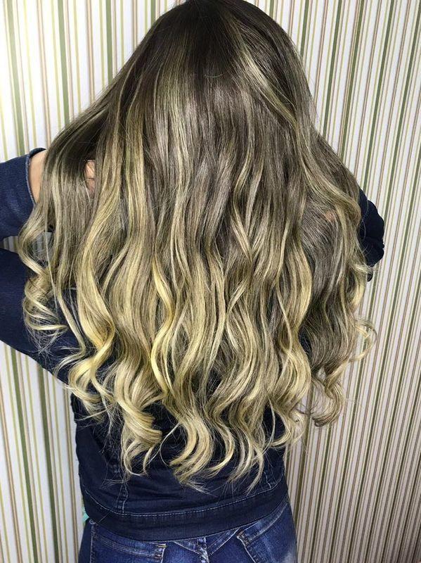 Ombre hair feita no papel . Cabelo natural cor, cliente tinha progressiva. cabelo cabeleireiro(a) depilador(a) manicure e pedicure