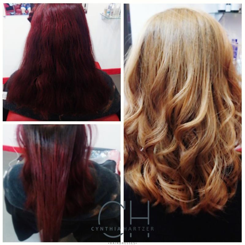 Limpeza total de cor. cabelo cabeleireiro(a)