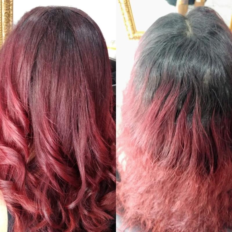 Correção de cor.   cabelo maquiador(a) designer de sobrancelhas cabeleireiro(a) escovista depilador(a)