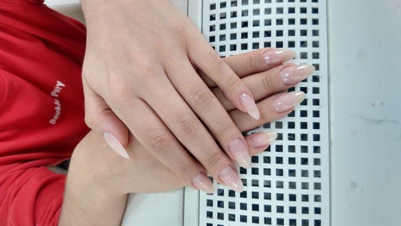 Alongamento em fibra de vidro unha manicure e pedicure designer de sobrancelhas auxiliar cabeleireiro(a) manicure e pedicure