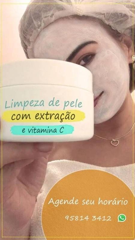 Limpeza de pele completa com extrações e vitamina C  estética esteticista maquiador(a) massoterapeuta