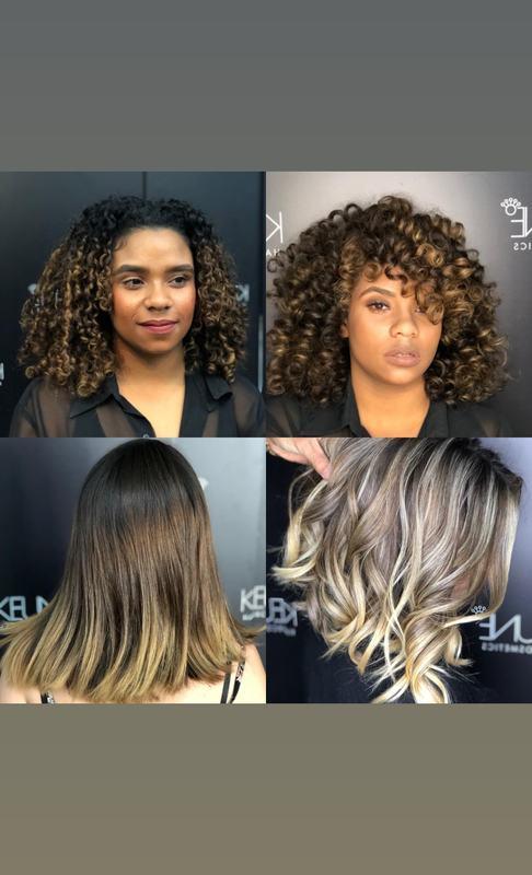 Primeira foto: mechas para iluminar e coloração. Segunda foto: Correção de cor e mechas criativas.  cabelo auxiliar cabeleireiro(a) escovista