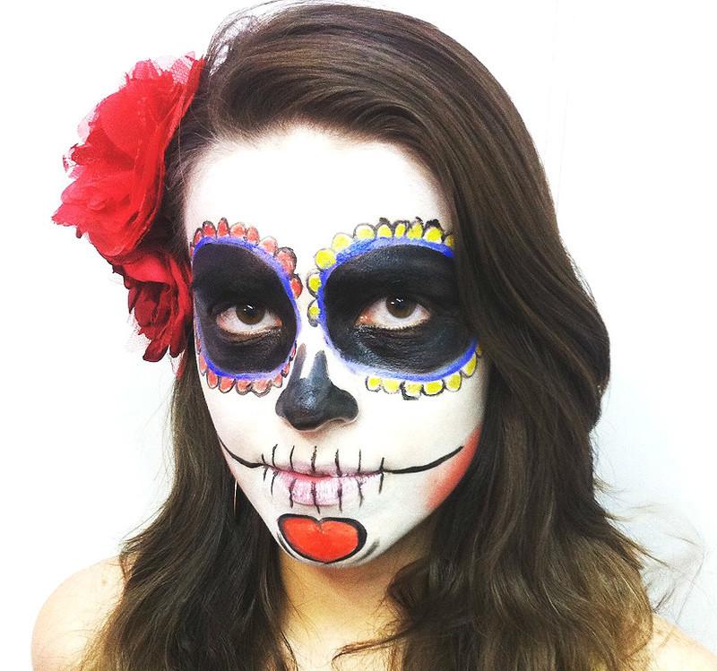 Maquiagem artística - caveira mexicana maquiagem maquiador(a) docente / professor(a)