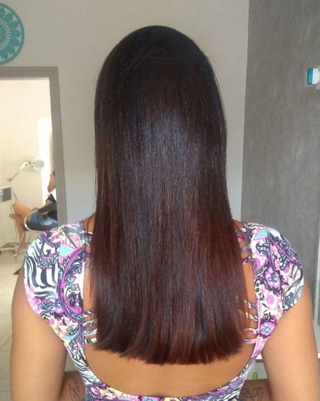 Alisamento orgânico sem cheiro e 0% de formol Cabelo alinhado, com brilho e movimento 🖤 cabelo cabeleireiro(a) auxiliar cabeleireiro(a)