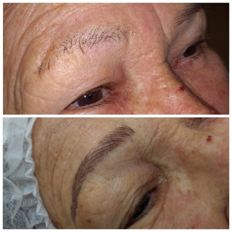 Micropigmentaçao de sobrancelhas fio a fio. cabeleireiro(a) micropigmentador(a) maquiador(a)