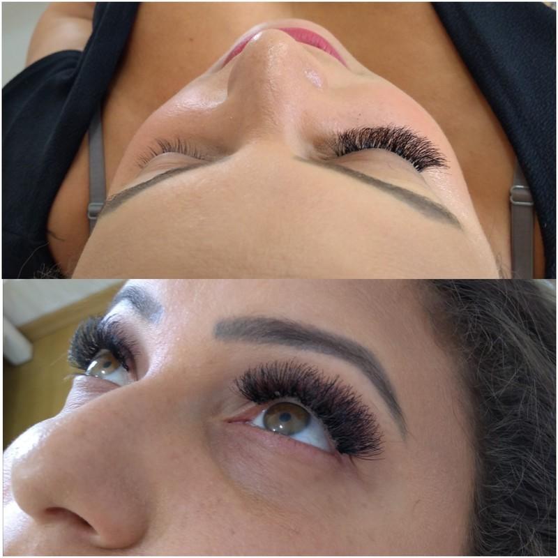 Cílios fio a fio cabeleireiro(a) micropigmentador(a) maquiador(a)