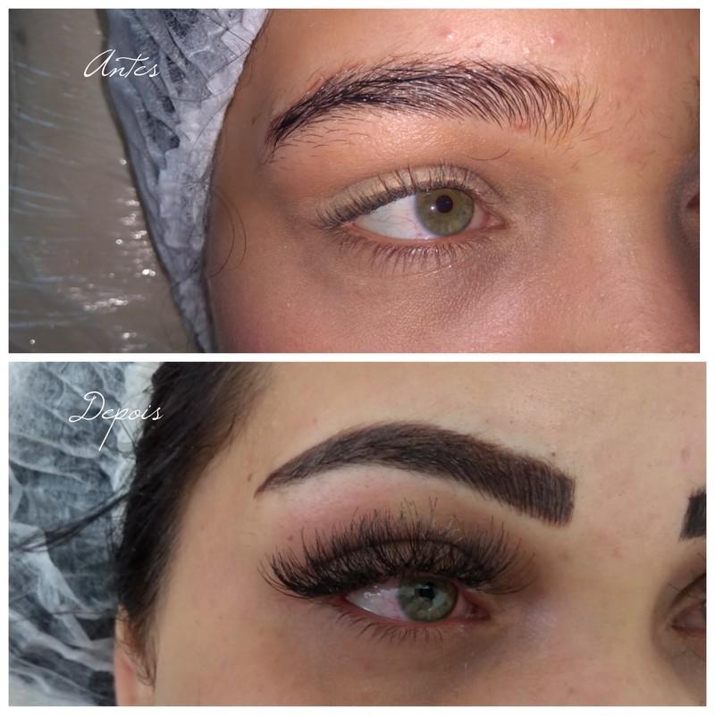 Micropigmentaçao de sobrancelhas e cílios maquiagem cabeleireiro(a) micropigmentador(a) maquiador(a)