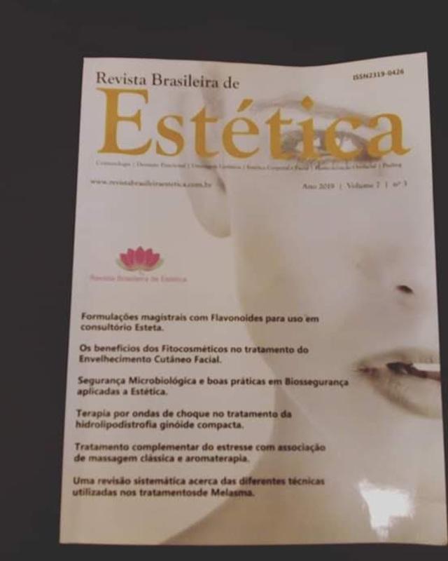 Publicação do meu artigo na resvista brasileira de estética.  esteticista