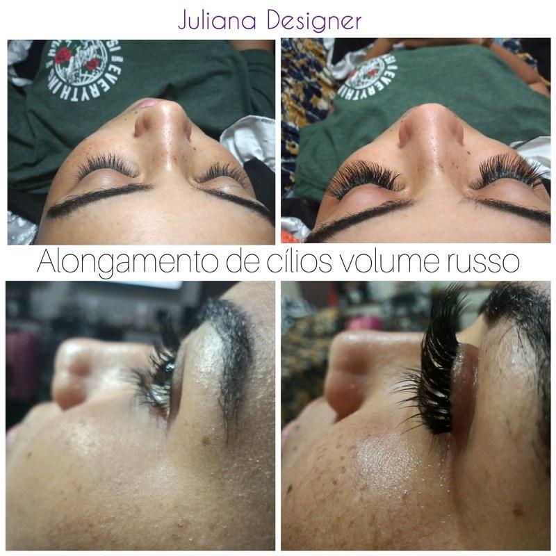 Alongamento de cílios volume russo estética dermopigmentador(a) designer de sobrancelhas