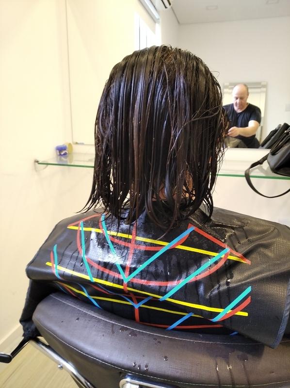 Antes short Bob cabelo cabeleireiro(a) barbeiro(a) maquiador(a) designer de sobrancelhas depilador(a)