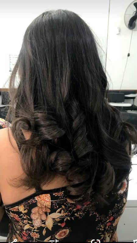 Escova e baby liss cabelo auxiliar cabeleireiro(a)