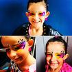 Penteado e Make infantil Neon para Carnaval e festas em geral. Elas amammmmm