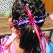 Penteado Infantil com fitas .