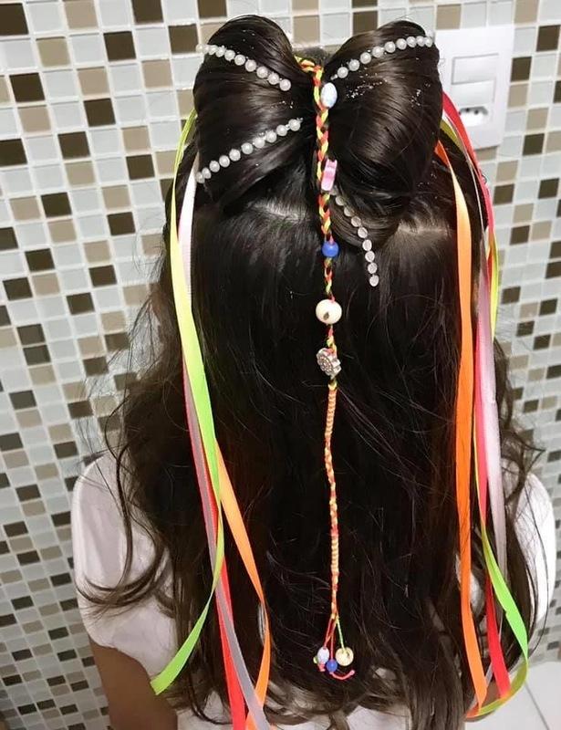 Penteado Infantil para festas. cabelo cabeleireiro(a) maquiador(a)
