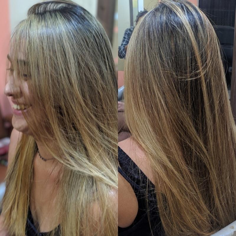Melhor satisfação de um cabeleireiro e ver esse sorriso de sua cliente e satisfação . cabelo auxiliar cabeleireiro(a) cabeleireiro(a)