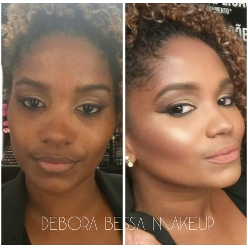 Pele negra linda e iluminada! maquiagem maquiador(a) designer de sobrancelhas cabeleireiro(a)