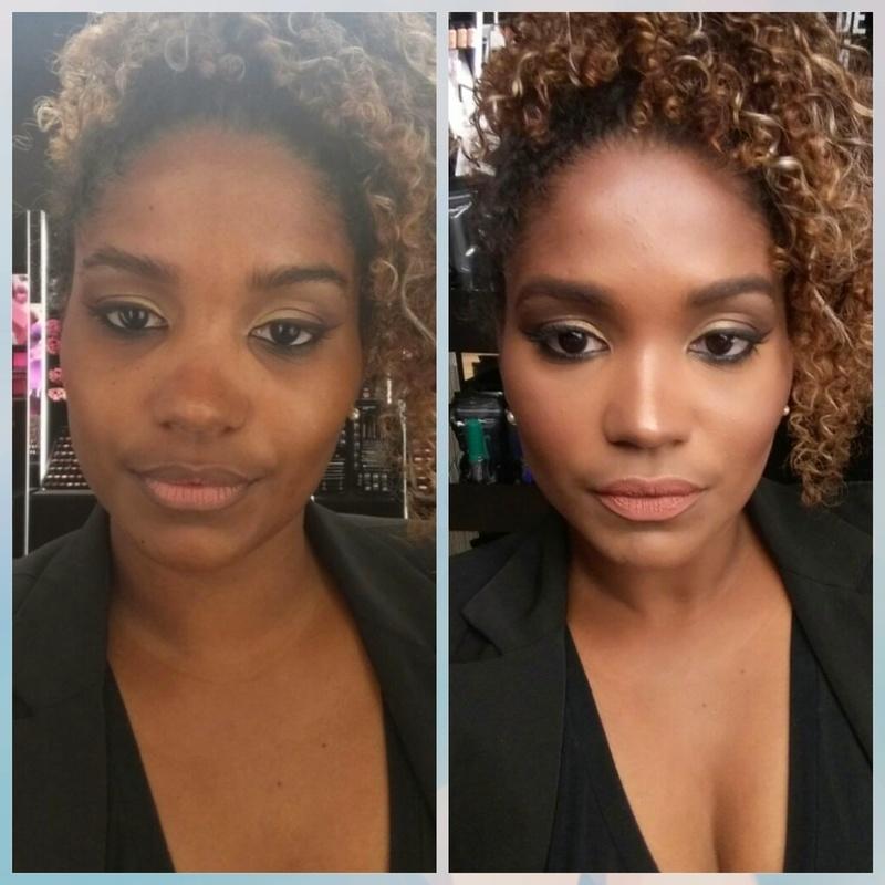 Pele negra radiante! maquiagem maquiador(a) designer de sobrancelhas cabeleireiro(a)