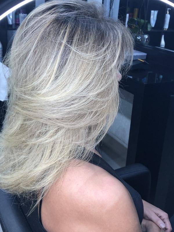Antes e depois cabelo cabeleireiro(a) designer de sobrancelhas