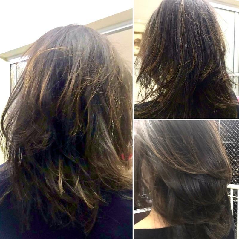 Corte Repicado em Camadas + Progressiva. cabelo cabeleireiro(a) maquiador(a)
