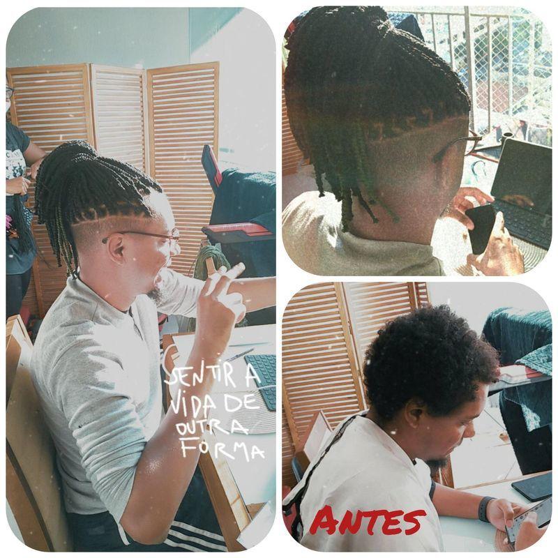 Corte e trança box braid cabelo auxiliar cabeleireiro(a)