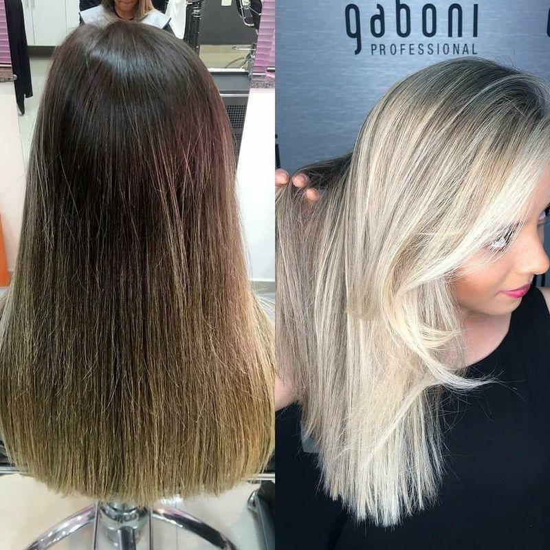 Mechas e finalização lisa cabelo auxiliar cabeleireiro(a)