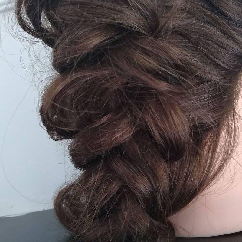 Trança pincelada... cabelo cabeleireiro(a)