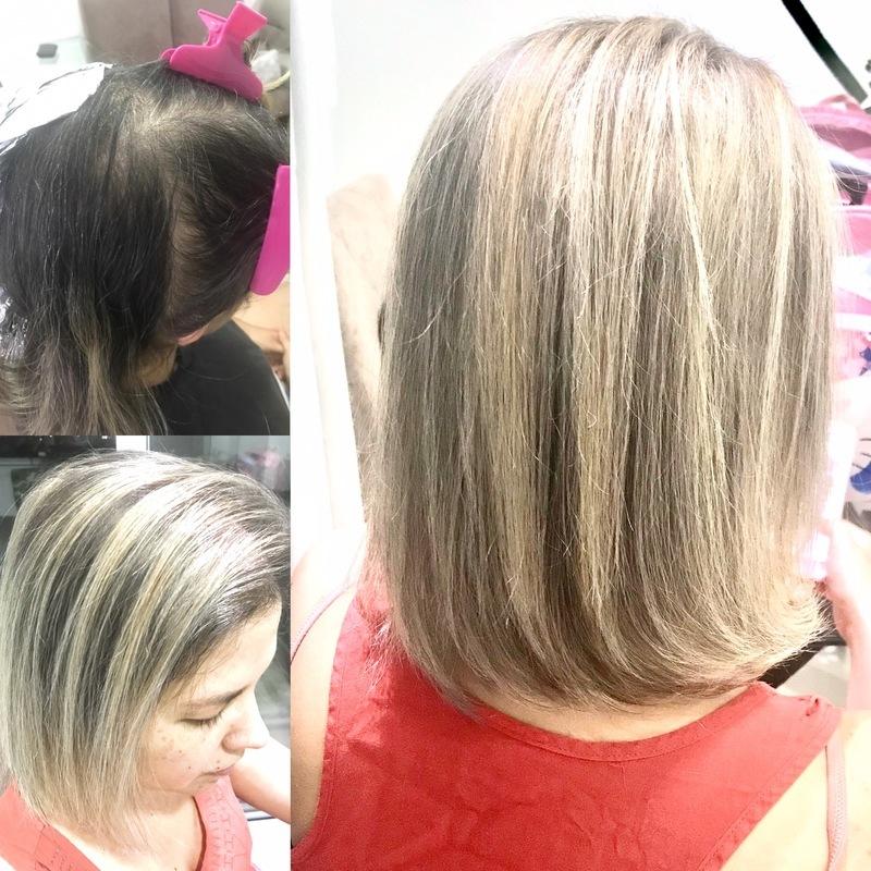 Mechas finas  cabelo cabeleireiro(a) maquiador(a)