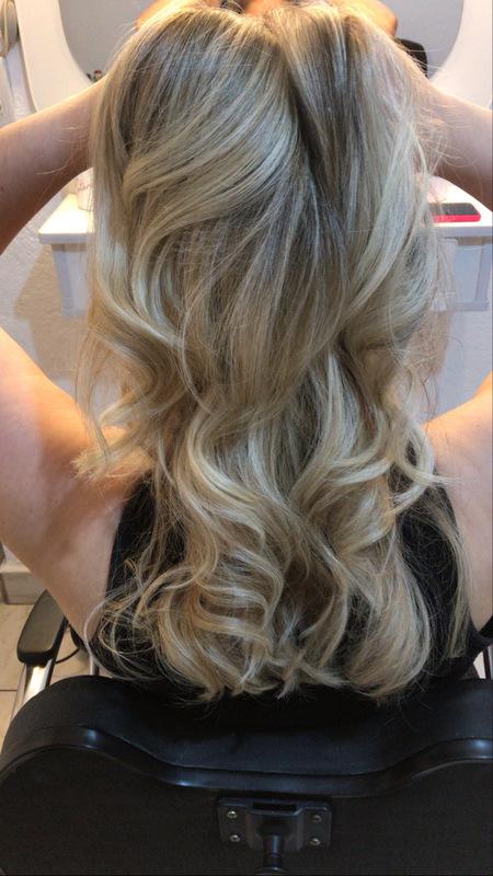 Reflexo com escova modelada!  cabelo cabeleireiro(a)