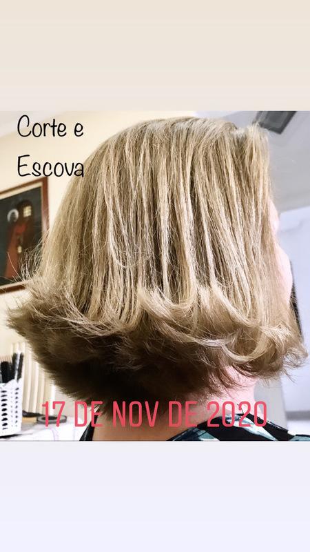 Corte e escova cabelo cabeleireiro(a) maquiador(a)