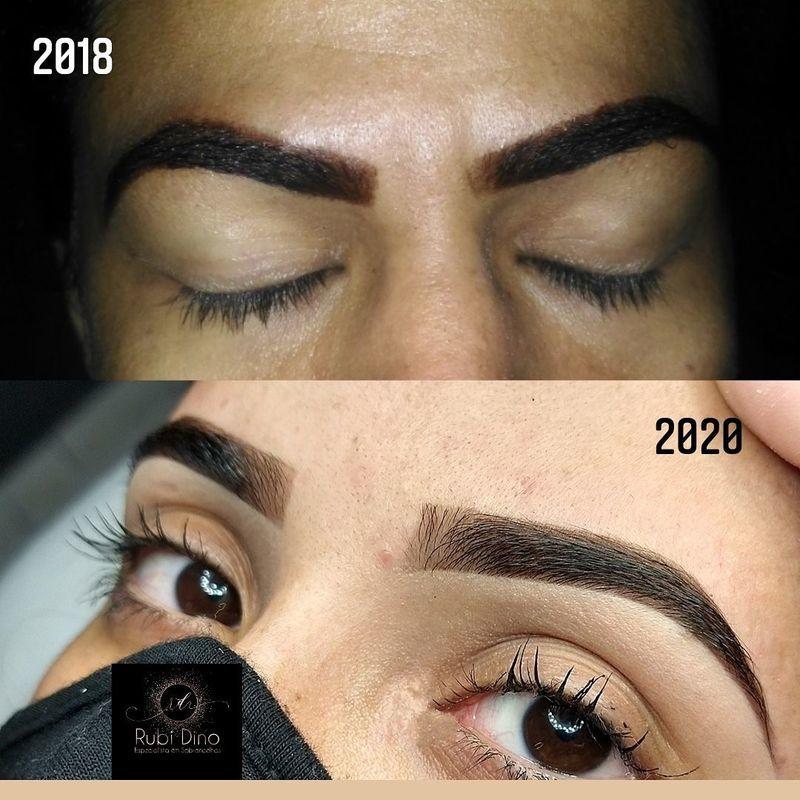 Essa foto é para mostrar essa evolução linda e gratificante. Não desista! A prática leva a perfeição. designer de sobrancelhas