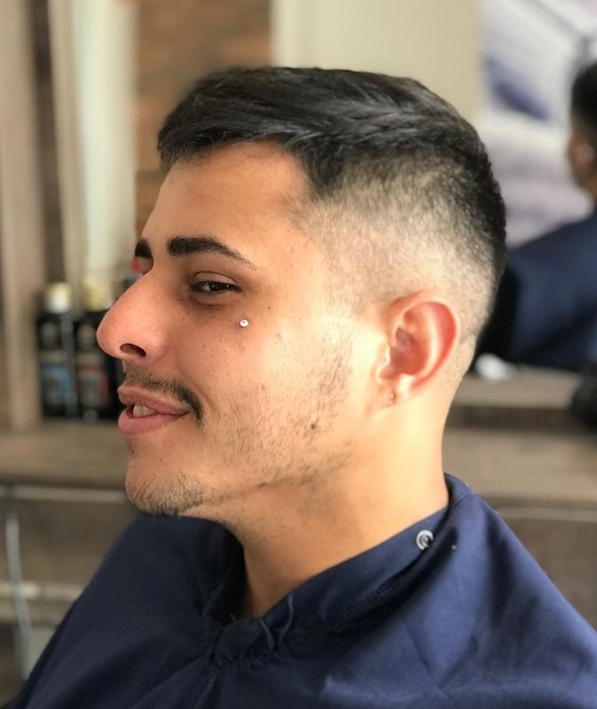 Corte masculino degradê  cabelo cabeleireiro(a) stylist / visagista