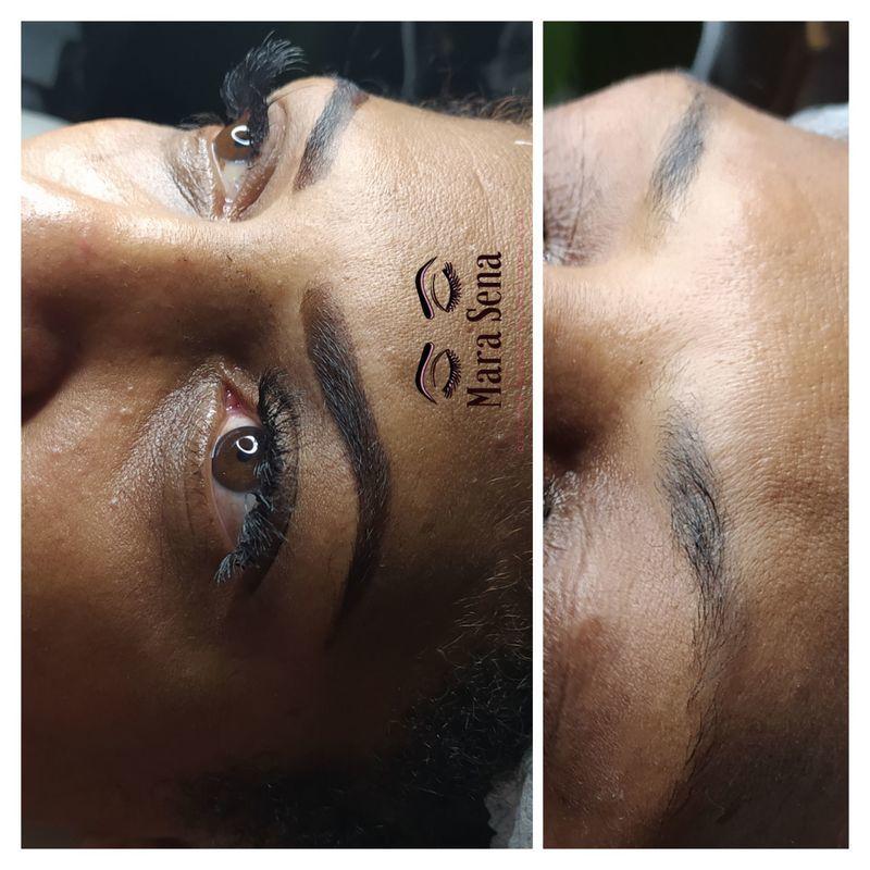 Design de sobrancelhas com henna outros micropigmentador(a) designer de sobrancelhas assistente maquiador(a) auxiliar de limpeza maquiador(a) recepcionista