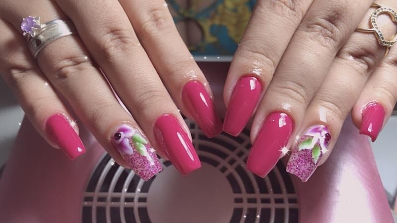 Alongamento de fibra de vidro!!! unha manicure e pedicure