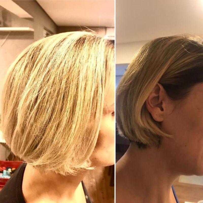 Correção de Cor feita no papel á domicílio cabelo cabeleireiro(a) maquiador(a)