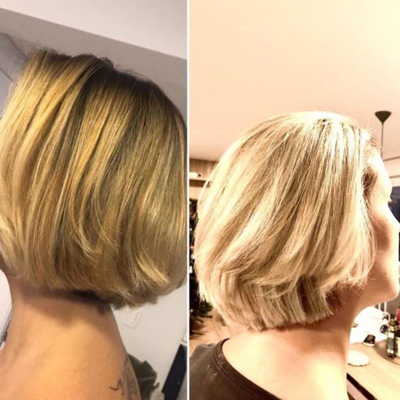 Correção de cor feita á domicílio cabelo cabeleireiro(a) maquiador(a)